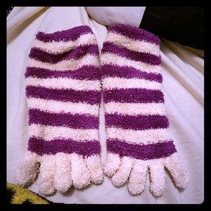 Fuzzy toe socks